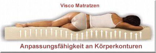 Orthop�dische Visco Matratzen